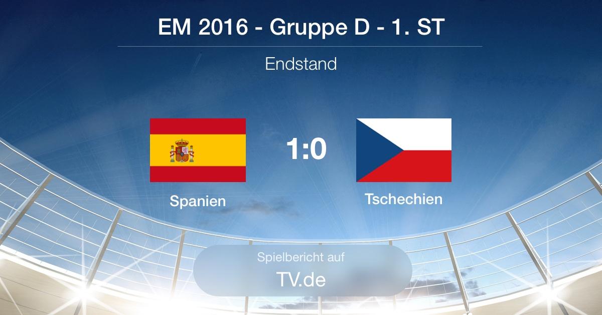 Spielbericht: Spanien gg. Tschechien (1:0)