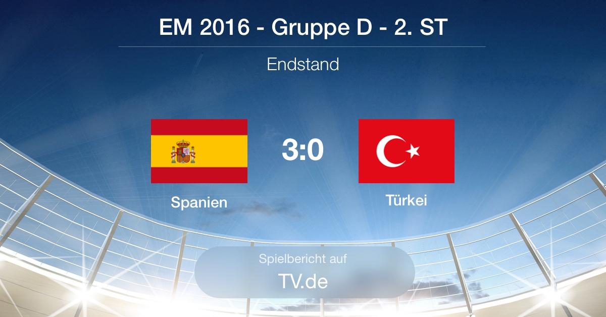 Spielbericht Spanien gg. Türkei (3:0)