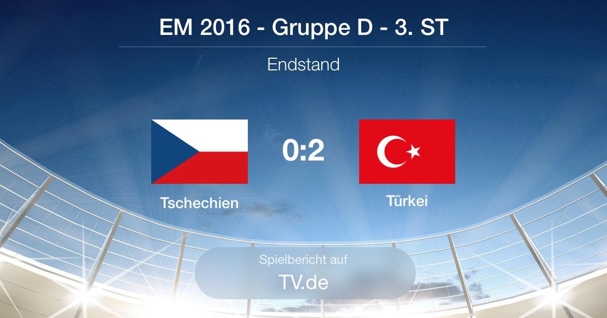 Spielbericht: Tschechien gg. Türkei (0:2)