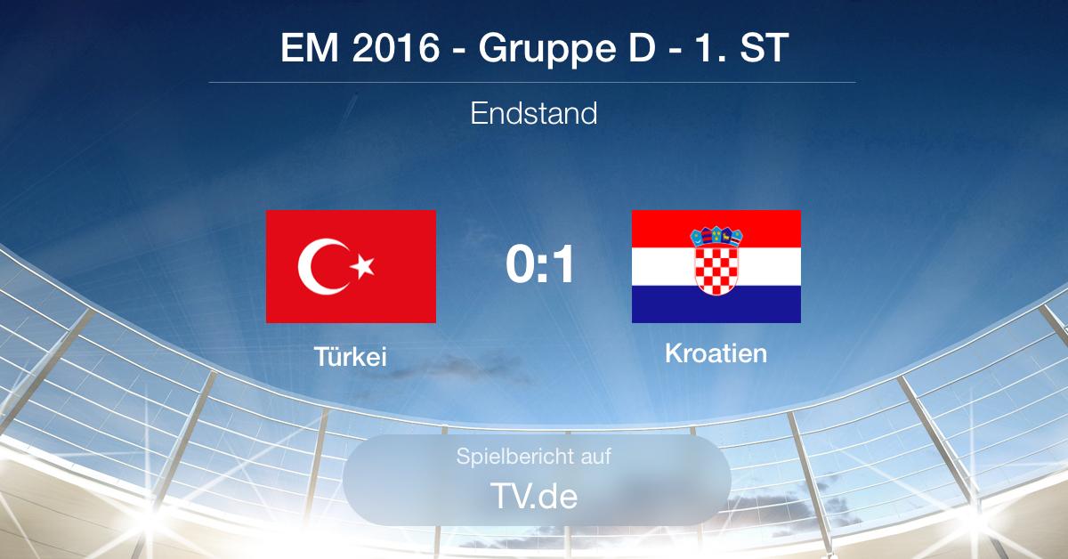 Spielbericht: Türkei gg. Kroatien (0:1)