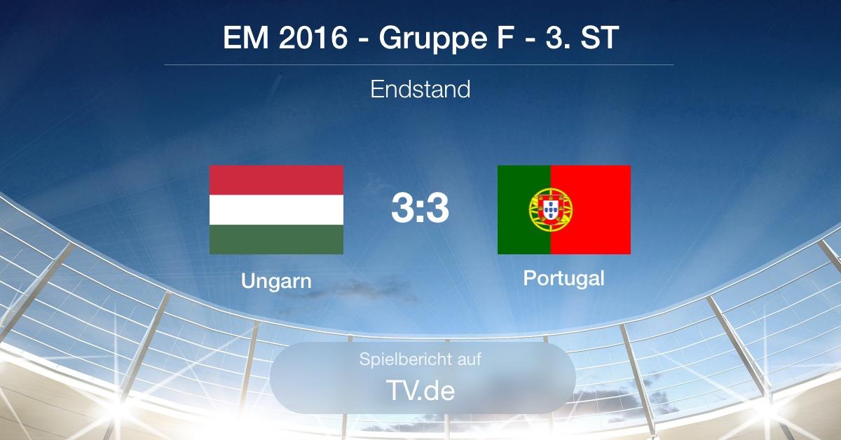 Spielbericht: Ungarn gg Portugal (3:3)