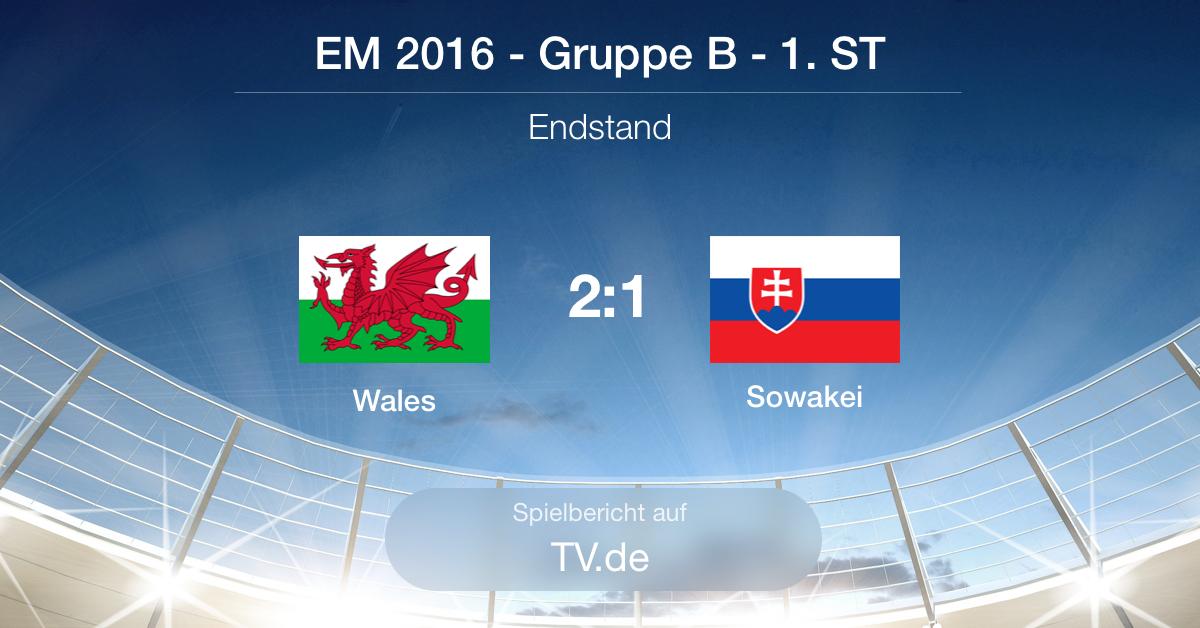 Spielbericht: Wales gg. Slowakei (2:1)