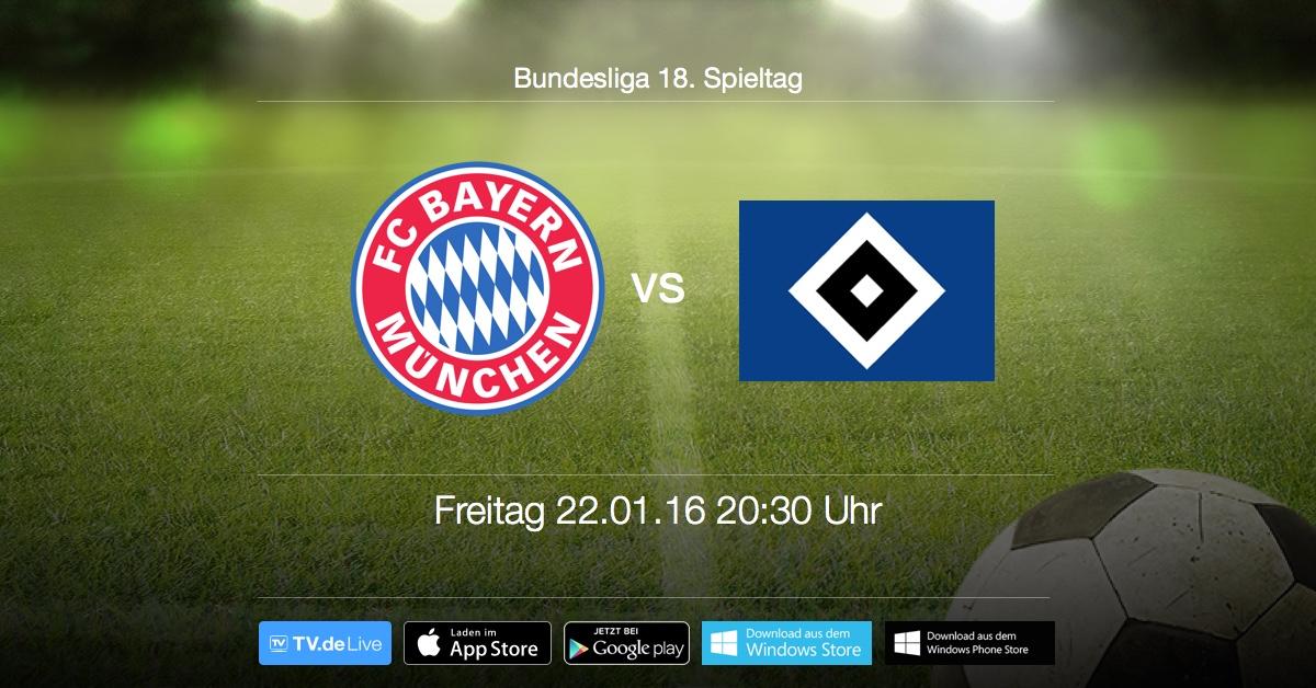 Topspiel am Freitag ab 20:30 Uhr Live: Hamburger SV vs. FC Bayern