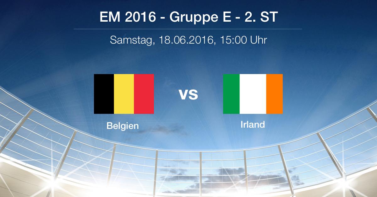 Vorbericht: Gruppe E - Belgien gg. Irland