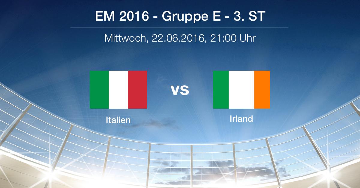 Vorbericht: Gruppe E - Italien gg. Schweden