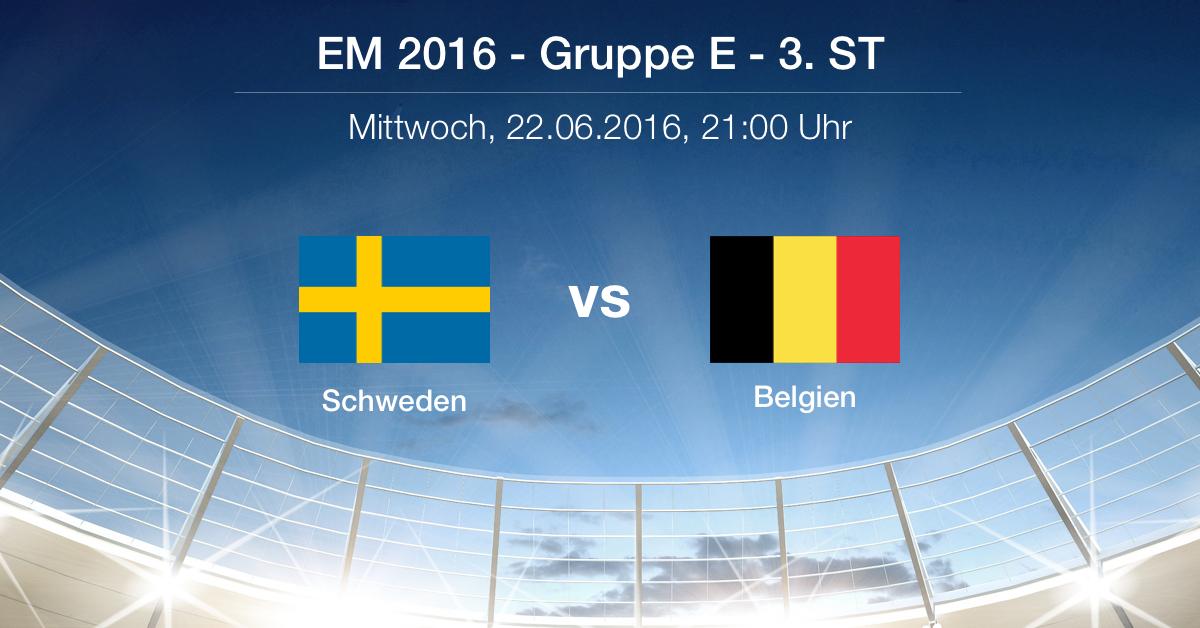 Vorbericht Gruppe E: Schweden - Belgien