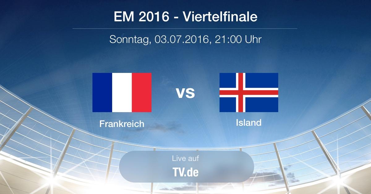 Vorbericht: Viertelfinale - Frankreich gg. Island